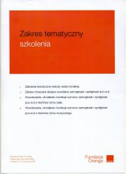 2009 - Warsztaty Fundacja Orange cz. 1 - zakres