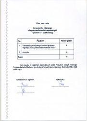 2010 - Zaświadczenie o zaliczeniu doskonalącego kursu języka migowego - plan