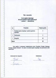 2010 - Zaświadczenie o zaliczeniu elementarnego kursu języka migowego - plan